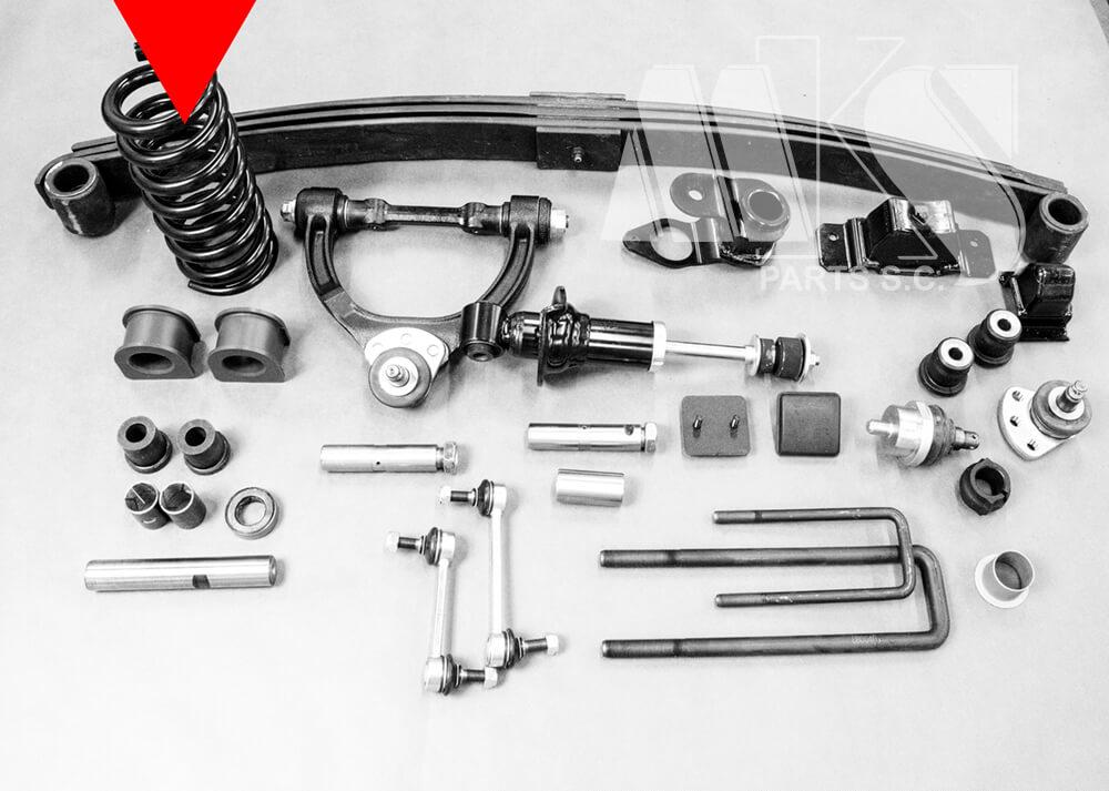 Zestaw części zamiennych do ukladu zawieszenia do Mitsubishi Canter Fuso